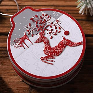 Nesee Christmas Tin Gift Box Candy &Cookie Storage Box Hanging Tree Xmas Decor Home Decor Supplies Children's Gift
