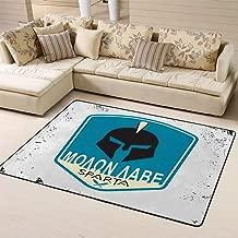 Area Rug Floor Rug Non-Slip Doormat Spartan Motto Molon Labe Come Take Badgefor Living Dining Dorm Room Bedroom 60