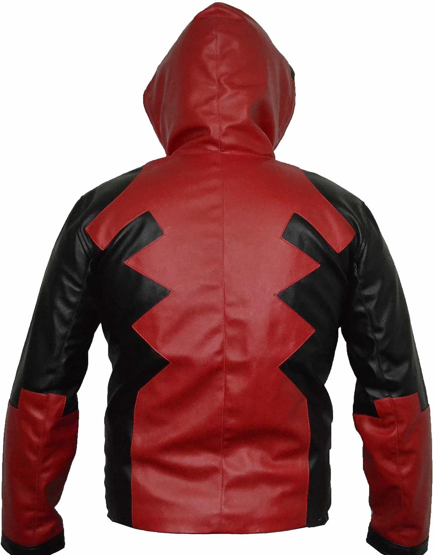 coolhides Mens Hoodie Leather Jacket
