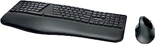 Kensington Set con Tastiera & Mouse Wireless Ergonomici ProFit Ergo, Tastiera Divisa con Layout Italiano, Mouse Ergo, Dopp...