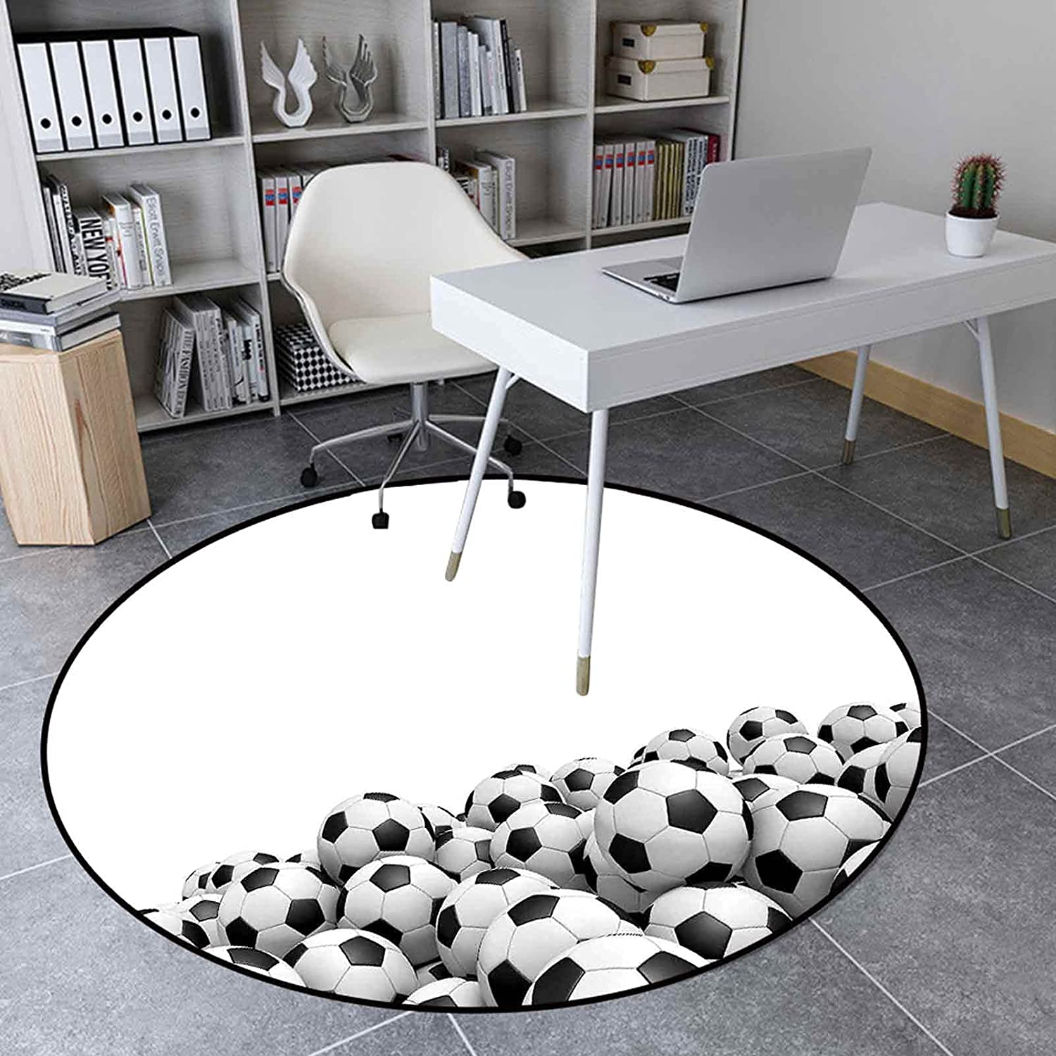 Round Area Rugs 2.95' Excellent for Illustration Room o Living Cheap
