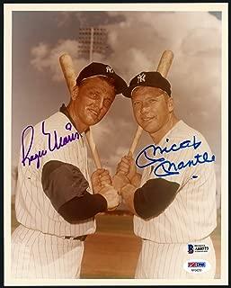 Mickey Mantle & Roger Maris Autographed 8x10 Photo New York Yankees Gem Mint 10 Beckett BAS #A60573 & PSA/DNA #AF04255