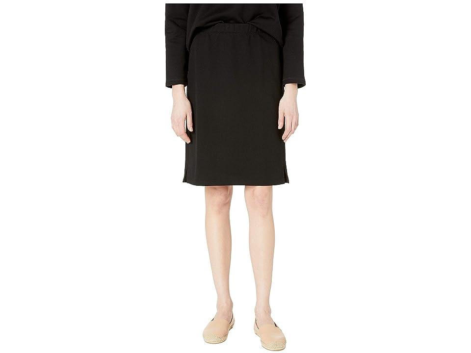 Eileen Fisher Organic Cotton Terry Pencil Skirt (Black) Women