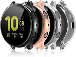 Compatible for Galaxy Watch Active 2 Case 40mm, 4 Pack Full Coverage TPU Bumper Screen Protector Case Soft Protective Cove...