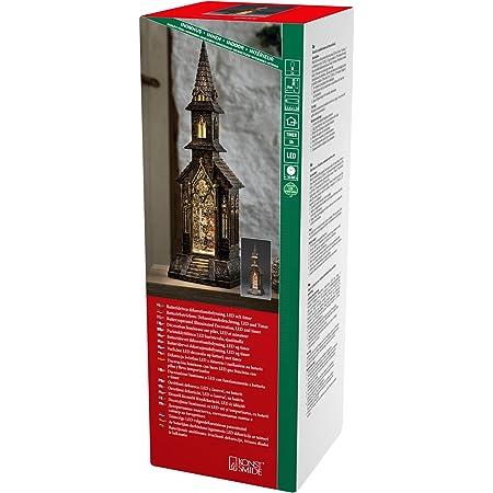 Konstsmide 4359-000 Farol de Nieve LED con Escena de Coro, marrón