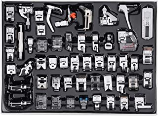 TopDirect 52pcs Professional Sewing Machine Presser Foot Set for Singer, Brother, Janome, JUKI, Toyota Low Shank Sewing Ma...