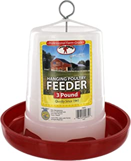 Little Giant Farm & Ag PHF3 3 Lbs Plastic Hanging Poultry Feeder