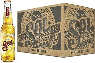 Sol Cerveza - Paquete de 24 Botellas x 330 ml - Total: 7.92 L