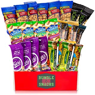 Variety Snacks Care Pack (24 Count) Healthy Snacks Care Package Salty/Savory & Sweet Mix of Assorted Packaged Nuts, Peanuts, Almonds, Trail Mixes, Nut Bars & More For Breakfast, College, Work, Fitness