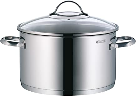 WMF Provence Plus High Casserole 24Cm W/Cover, Stainless Steel, 1kg