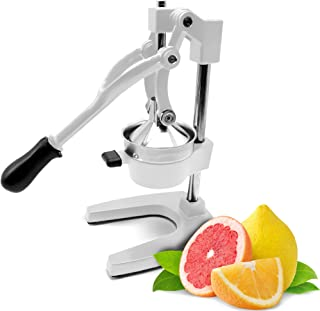 Commercial Manual Orange Juicer Citrus Press And Lemon Squeezer - Premium Quality Heavy Duty Best For Pomegranate Grapefruit Lime- By Experts Of KP Industry (White)