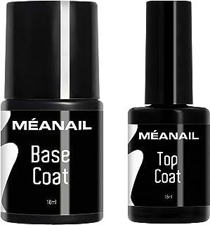 Top Coat y Base Coat Permanente Uñas Gel UV LED Manicura y Pedicura Ideal Lampara Secador de Uñas Esmalte Semipermanente P...