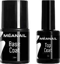 Top Coat y Base Coat Permanente Uñas Gel UV LED Manicura y Pedicura Ideal Lampara Secador de Uñas Esmalte Semipermanente Polygel Gel de Construccion