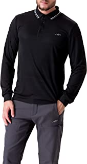 Trailside Supply Co. Men's Long-Sleeve Polo Shirts Breathable Quick Dry Top