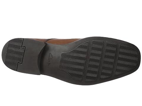 Leather Clarks Tilden Walk BlackDark Tan 8qI4Xq