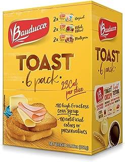 Bauducco Toast 6 Pack - Original, Whole Wheat & Multigrain (5.01oz each)