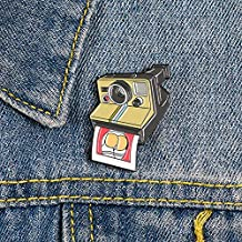 HaHawaii Brooch Pin, Fashion Cartoon Camera Enamel Alloy Brooch Pin Badge Lapel Denim Jacket Decor - Camera#