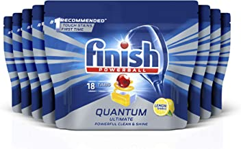 Finish Powerball Quantum Ultimate Dishwasher Tablets, 144 tablets (8x18), Lemon Sparkle