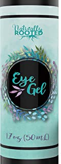 Eye Gel for Dark Circles, Puffiness, Bags, Fine Lines and Wrinkles. 100% Natural, 72% Organic Anit-Aging Treatment with Hyaluronic Acid, Vitamin E, Aloe, MSM, Cucumber, and Peptides. 1.7 oz