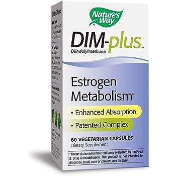 Nature's Way Dim-Plus, Diindolylmethane Vegetarian Capsules, 60-Count (Packaging May Vary)