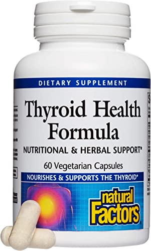 Natural Factors - Thyroid Health Formula, Nutritional Support for The Thyroid Gland, 60 Vegetarian Capsules