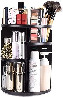 Maquillali Organizador de Maquillaje, 360° Rotación con 7 Niveles Ajustable (Negro)