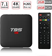 PULIER T95 S1 Android 7.1 TV Box 2GB RAM 16GB ROM S905W Quad Core Support 1080P 4K Ultra-HD H.265 Blu-ray HDMI Smart TV Media Player 2018 Newest …