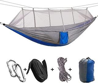 JIA-WALK Ultralight Parachute Hammocks Travel Camping Hammock Hunting Fishing Mosquito Net Double Person Swing Outdoor