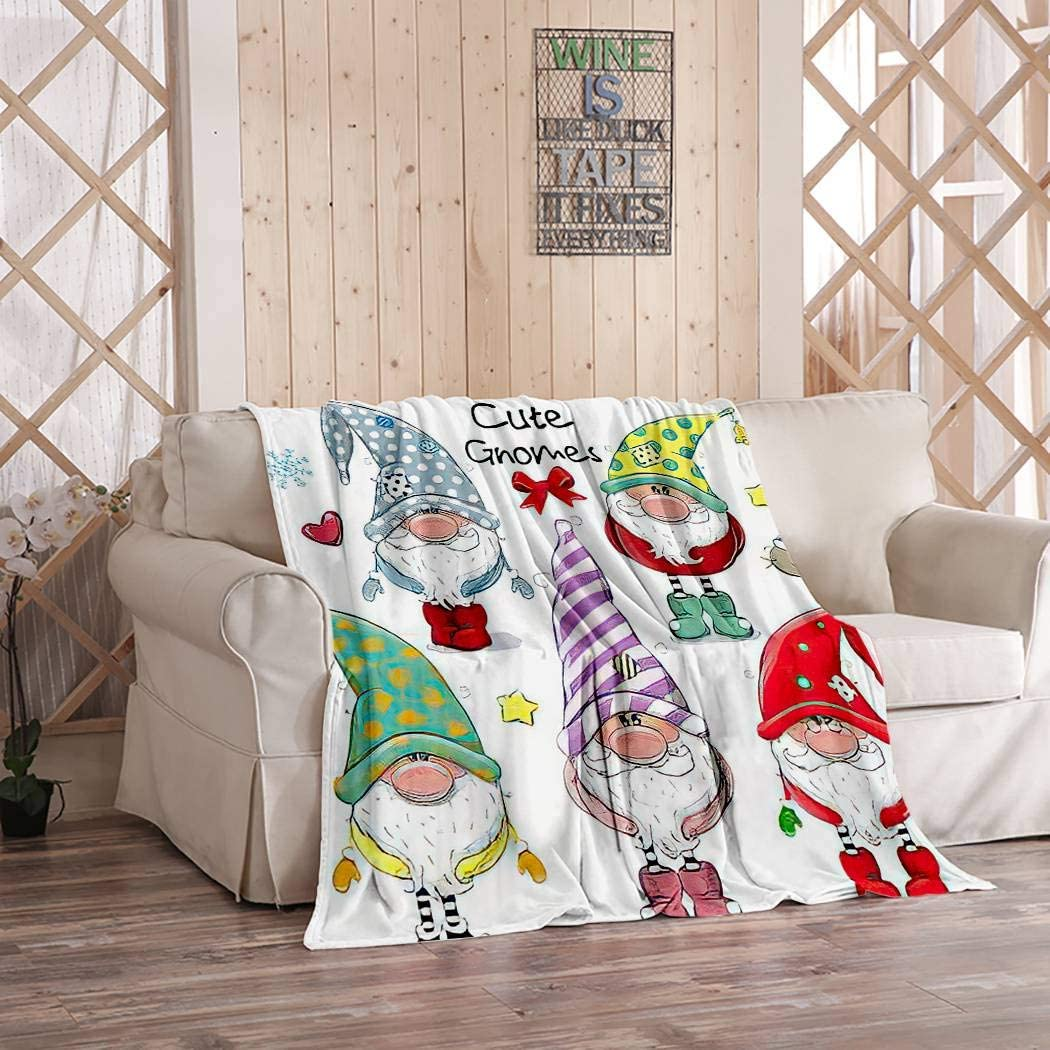 Ajckly Special sale item Cute Throw Blanket Cartoon Funny Dw Hat Minneapolis Mall Christmas Gnomes