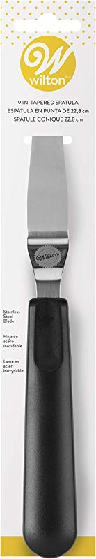 Wilton 409 7714 Tapered Icing Spatula 9 Inch Black