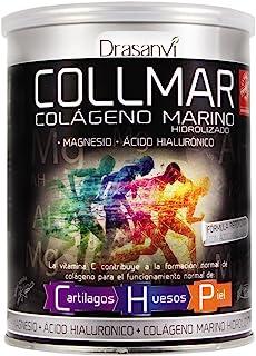 COLLMAR Colágeno Marino Hidrolizado con Magnesio. Ácido Hialurónico y Vitamina C 300 g Polvo