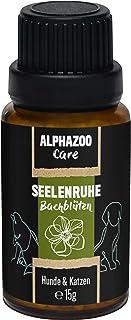 alphazoo Seelenruhe Bachblüten für Hunde & Katzen 15g, Globuli gegen Hektik und Stress des Tieres, natürlich sanftes Beruhigungsmittel für Ruhe und Ausgeglichenheit, Blütenmischung nach Dr. Bach