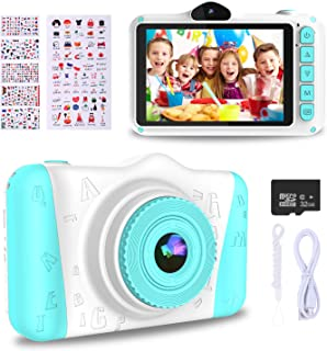 WOWGO Upgrade Kids Selfie Digital Camera - 12MP Children's Camera with 3.5 Inches Large Screen,1080P Rechargeable Electronic Camera with 32GB TF Card,Perfect Birthday Festival Gift for Kids Children