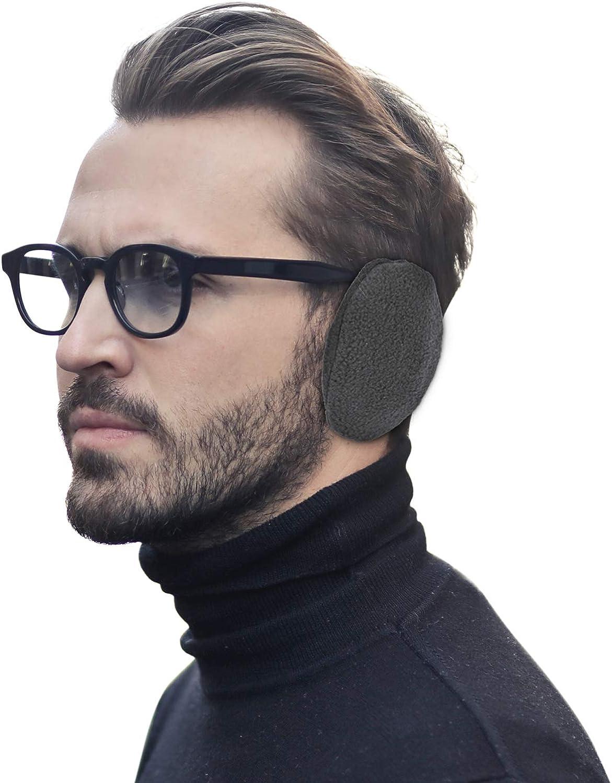 Bandless Earmuffs Fleece Ear Warmers for Men And Women Cold Weather