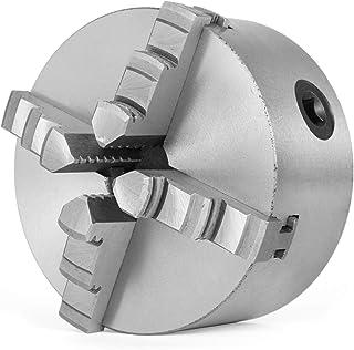 Mophorn Torno de Madera Mandril de 4 Pulgadas Accesorio de Torno de Madera Autocentrante Chuck de Torno con Conjunto de Accesorios