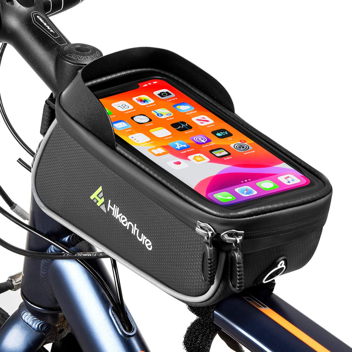 Cycling Bike Bicycle Frame Front  Top Tube Bag  Phone Holder Case Pouch Outdoor