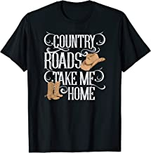 Country Roads Take Me Home Girls Southern Gals T-Shirt