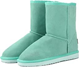 Nice Style Genuine Cowhide Leather Australia Classic 100% Wool Snow Boots Warm Winter for Women