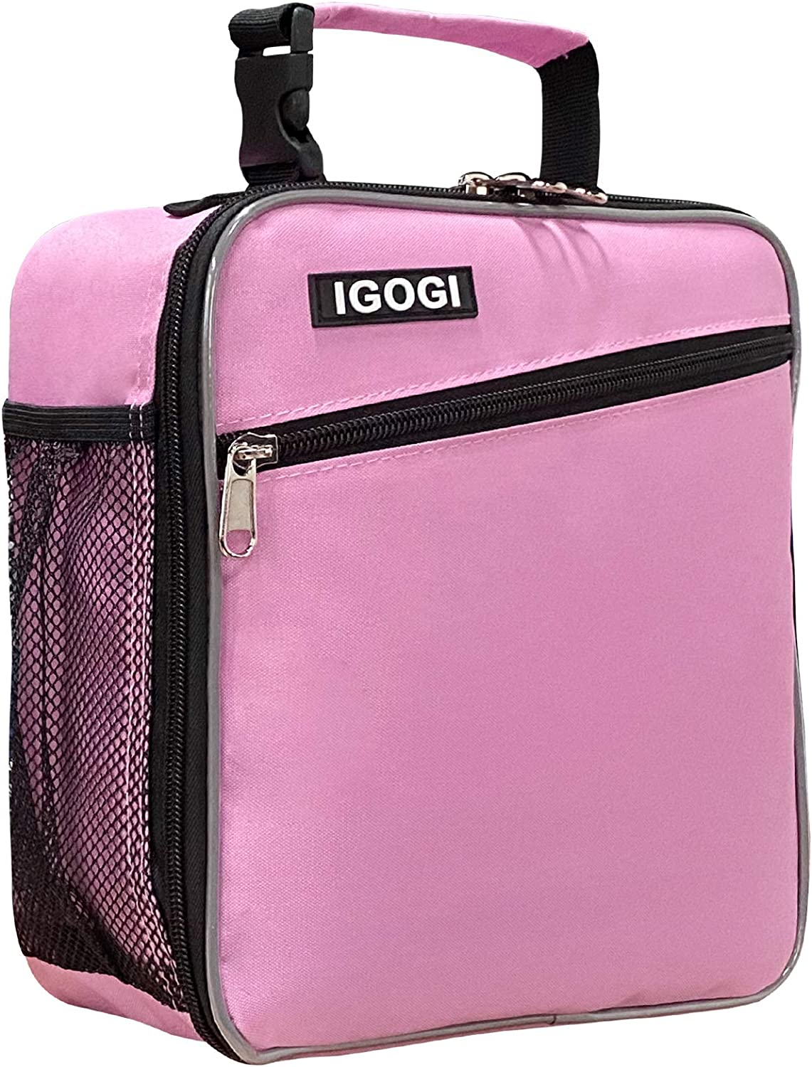 Insulated Lunch Box for Men, Women, Compact Adult Lunch Pail Work Office Cooler, Soft, Leakproof, Fashion. Suit to men, women,work,office,beach (Pink)