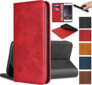 Jaorty for Sony Xperia XZ XZs Wallet Case,Premium PU Leather Flip Folio Case with Card Slot, Stand Holder and Magnetic Closure [TPU Shockproof Interior Protective Case] for Sony Xperia XZ XZs,Red