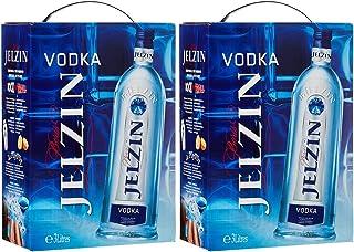 2x Boris Jelzin Vodka Bag in Box 2 x 3 Liter