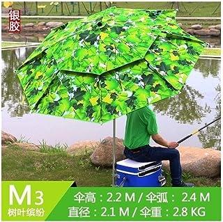 Sunshade Canopies Beach Fishing Umbrella Folding Catch Outdoor Waterproof Rain - Proof U-v - Proof Sunscreen (Color : M3 2.4m)