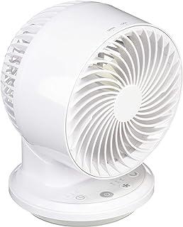 [山善] 扇風機 サーキュレーター コンパクト 左右自由首振り 12cm AC/USB 風量調節3段階 切タイマー ホワイト YDS-B12(W) [メーカー保証1年]