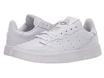 adidas Originals Kids GS Supercourt (Big Kid) (Footwear White/Footwear White/Core Black) Boy