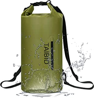 TaiBid Waterproof Dry Bag Floating Dry Backpack 10L 20L 30L Fishing Boating Kayaking Surfing Rafting Camping for Men and W...