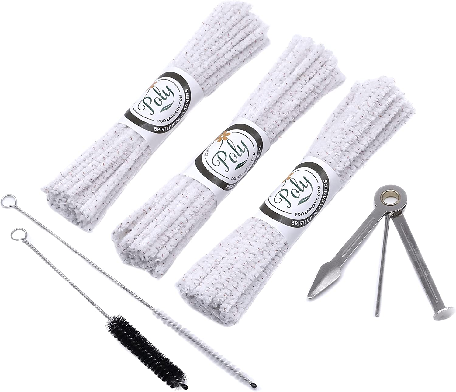 Pipe Cleaners Set with 132 2 B Bristle Clearance SALE! Limited time! Max 54% OFF Hard Nylon