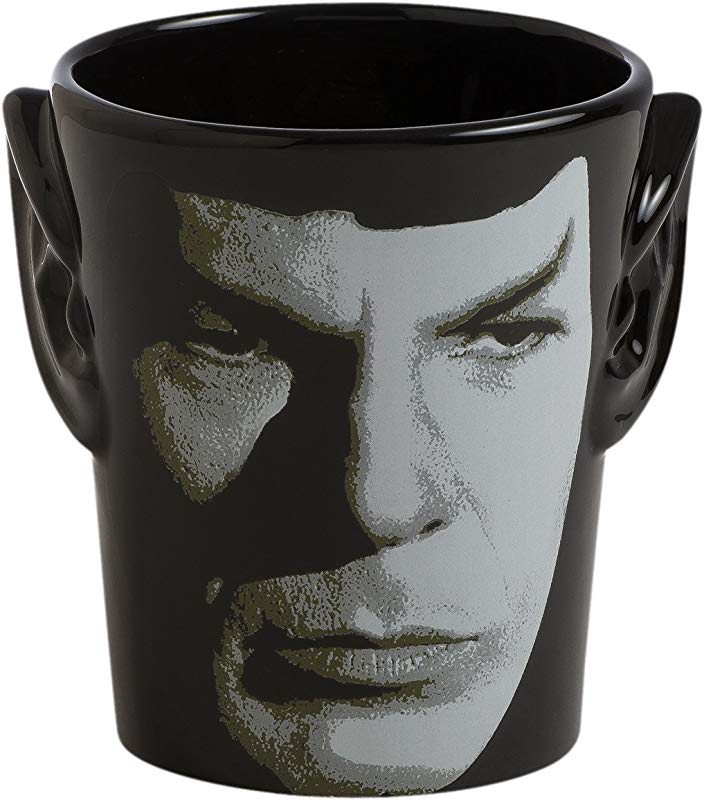 Vandor 55394 Star Trek Spock 3D Ears Shaped Ceramic Soup Coffee Mug Cup 20 Ounce