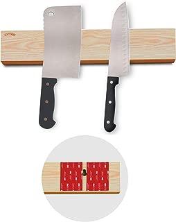 Powerful Magnetic Knife Strip No Screws, Adhesive mount (12' Ash)
