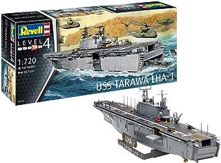 Revell RV05170 Assault Ship USS Tarawa LHA-1, skeppsmodell 1:720 originaltrogen modellkit för avancerade, omålade