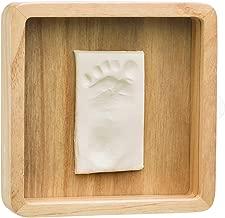 eckig braun Baby Art 3601097900 Geschenkbox aus Holz besondere Geschenke Box mit Gipsabdruck zum Selbermachen